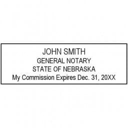 Nebraska Notary Pre-Inked Stamp - 15/16 x 2-13/16