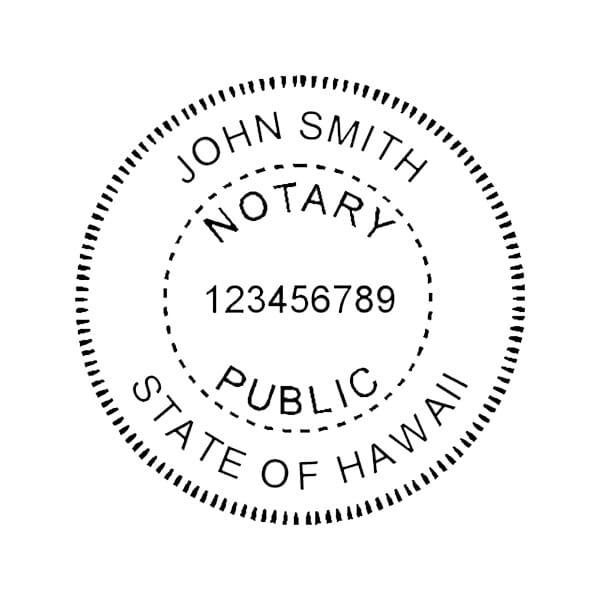 Hawaii Notary Self-Inking Stamp - 1-5/8 Diam. Round