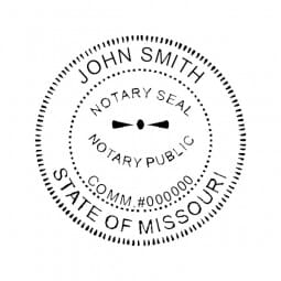 Missouri Notary Pocket Seal - 1-5/8 Diam. Round