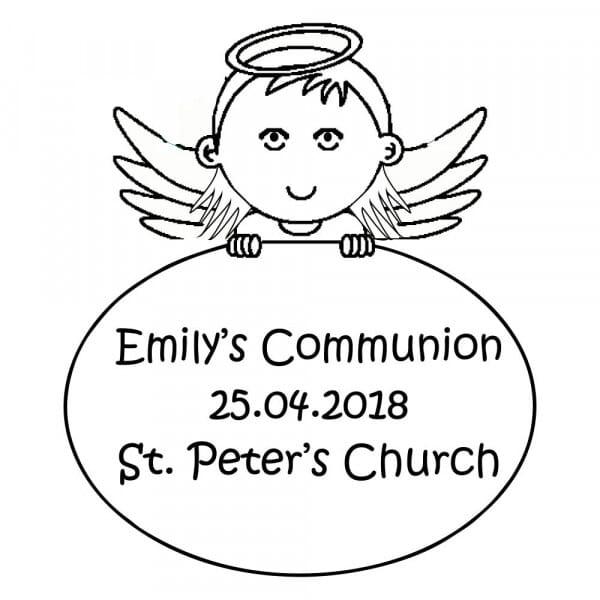 Customizable Communion Stamp - Girls