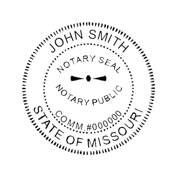 Missouri Notary Desk Seal - 1-5/8 Diam. Round