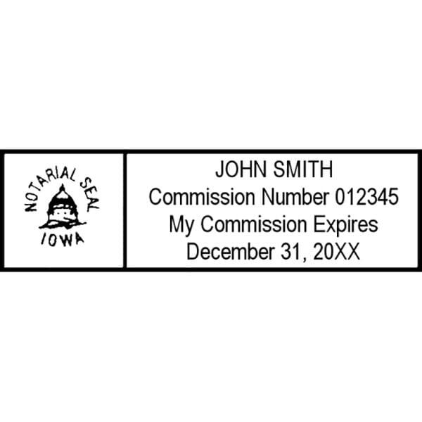 Iowa Notary Self-Inking Stamp - 7/8 x 2-3/8