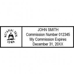 Iowa Notary Pre-Inked Pocket Stamp - 7/8 x 2-3/8