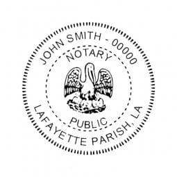 Louisiana Notary Self-Inking Stamp - 1-5/8 Diam. Round
