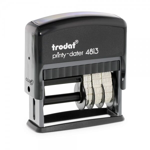 """Trodat Printy Dater 4813 3/8"""" x 1"""" - 1 or 2 lines"""
