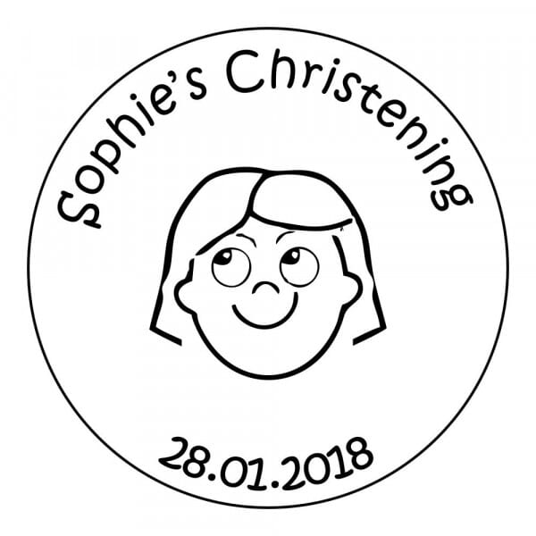 Christening Stamp - Girls