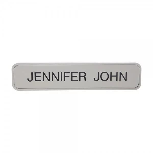 "Custom Engraved Sign/Wall Holder Complete- Designer 2"" x 8"""