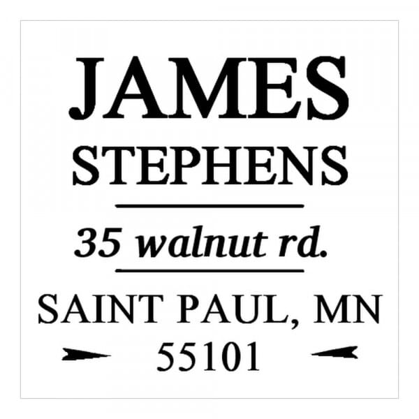 Monogram stamp squared - No  64