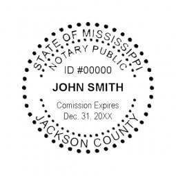 Mississippi Notary Pre-Inked Pocket Stamp - 2 Diam. Round
