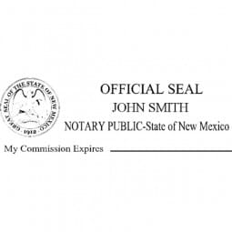 New Mexico Notary Pre-Inked Stamp - 15/16 x 2-13/16