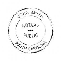 South Carolina Notary Self-Inking Stamp - 1-5/8 Diam. Round