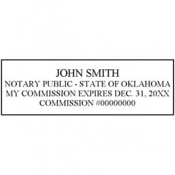 Oklahoma Notary Self-Inking Stamp - 7/8 x 2-3/8