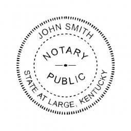 Kentucky Notary Pre-Inked Pocket Stamp - 2 Diam. Round