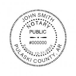 Arkansas Notary Desk Seal - 1-5/8 Diam. Round