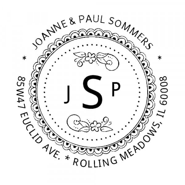 Monogram stamp round - No  21