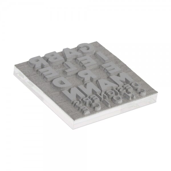 """Textplate for Trodat Printy 4923 1 3/16"""" x 1 3/16"""" - 6 lines"""