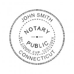 Connecticut Notary Pocket Seal - 1-5/8 Diam. Round