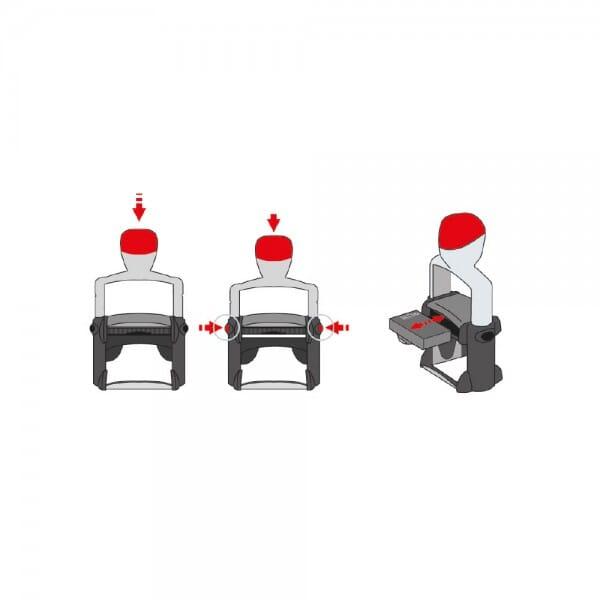 Trodat Replacement Ink Cartridge 6/15 - pack of 3