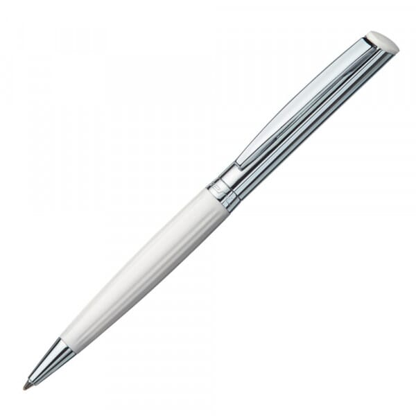 Heri Diagonal Wave 6251 Stamp pen white/silver (1 3/8 '' x 5/16 '' - 4 lines)