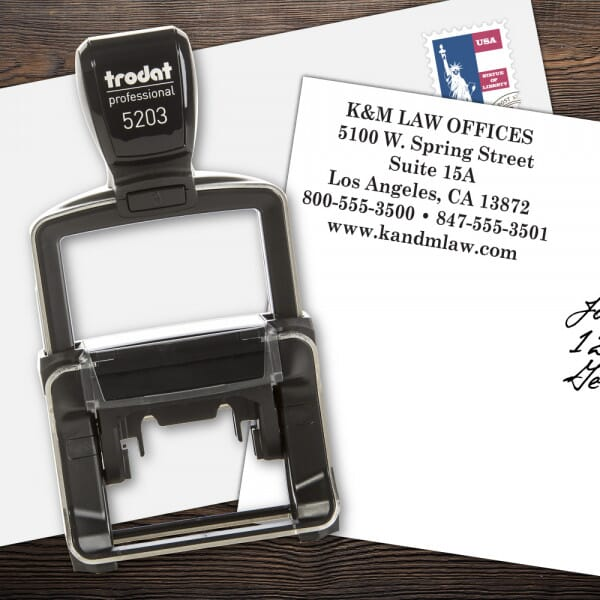 Custom 6 Line Trodat Professional Name and Address Stamp