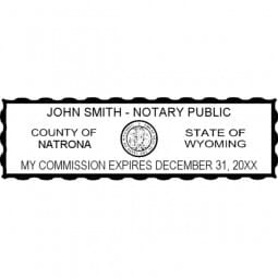 Wyoming Notary Pre-Inked Stamp - 15/16 x 2-13/16