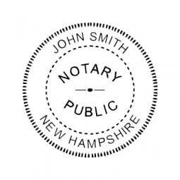 New Hampshire Notary Desk Seal - 1-5/8 Diam. Round