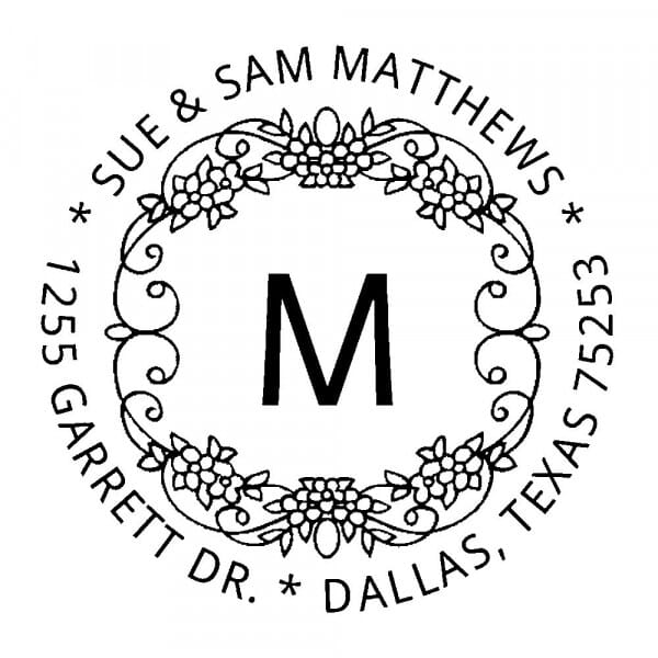 Monogram stamp round - No  5