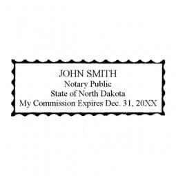 North Dakota Notary Pre-Inked Stamp - 15/16 x 2-13/16