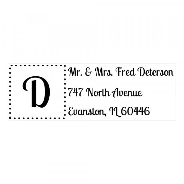 Monogram stamp rectangular - No  15