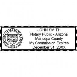 Arizona Notary Pre-Inked Stamp - 15/16 x 2-13/16