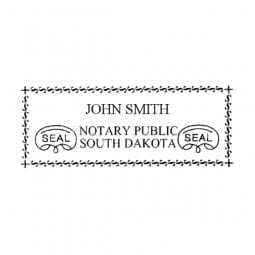 South Dakota Notary Pre-Inked Pocket Stamp - 7/8 x 2-3/8