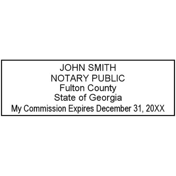 Georgia Notary Pre-Inked Stamp - 15/16 x 2-13/16