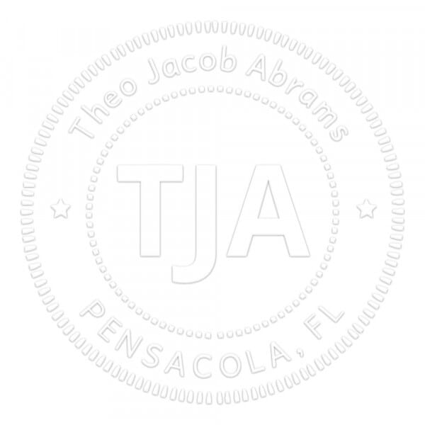 Bold Classic Style Round Monogram Seal