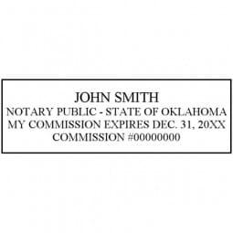 Oklahoma Notary Pre-Inked Stamp - 15/16 x 2-13/16