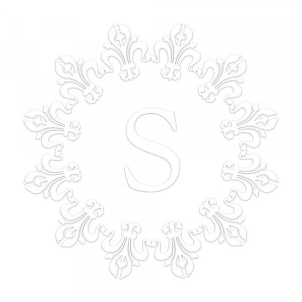 Fleur-de-Lis Border Round Monogram Seal
