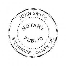 Maryland Notary Desk Seal - 1-5/8 Diam. Round