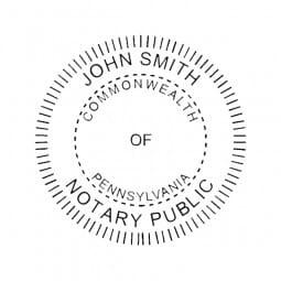 Pennsylvania Notary Pre-Inked Pocket Stamp - 2 Diam. Round