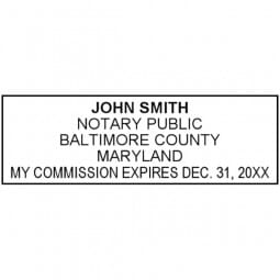 Maryland Notary Pre-Inked Stamp - 15/16 x 2-13/16
