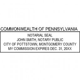 Pennsylvania Notary Pre-Inked Pocket Stamp - 1-1/16 x 2-7/8