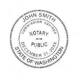 Washington Notary Desk Seal - 1-5/8 Diam. Round