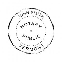 Vermont Notary Pocket Seal - 1-5/8 Diam. Round