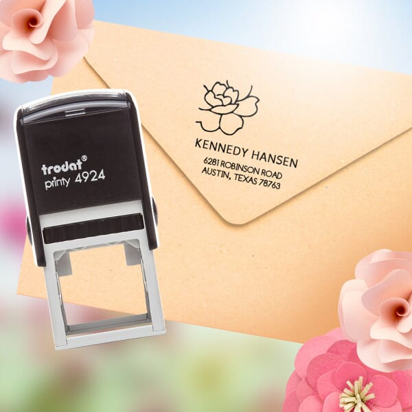 Celebrate the Spring Season with a Flower Monogram Stamp