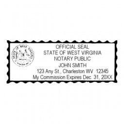 West Virginia Notary Pre-Inked Pocket Stamp - 1-1/16 x 2-7/8