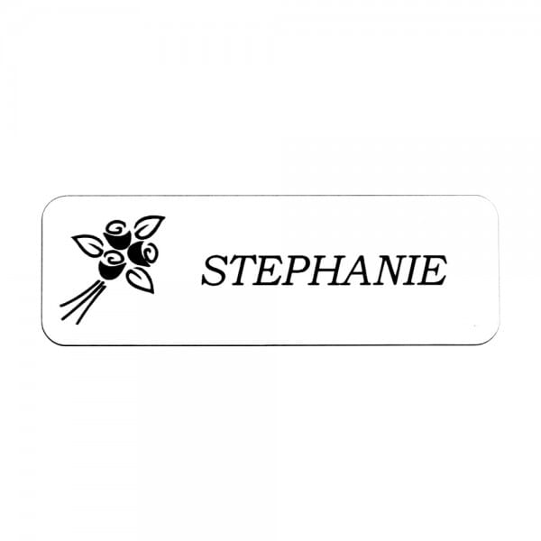 "Custom Engraved Name Badge- Metal 1"" x 3"""