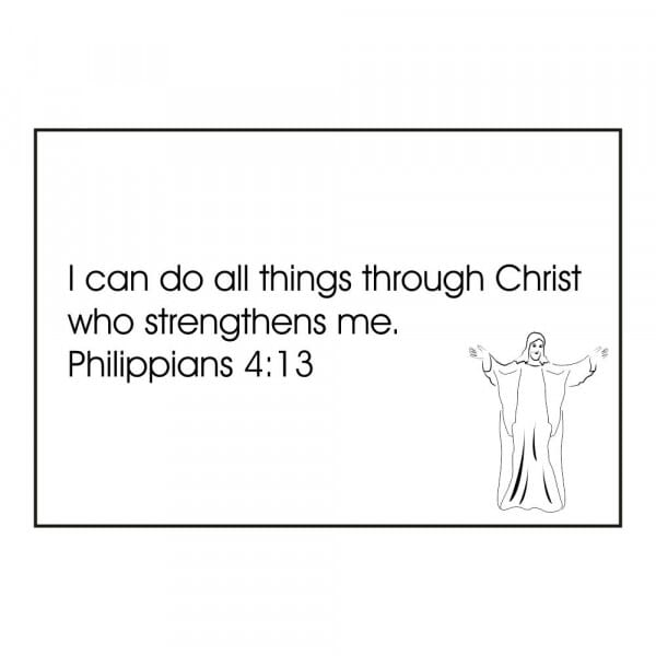 Craft Stamp - Philippians 4:13