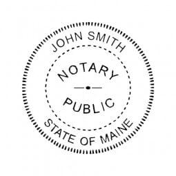 Maine Notary Pre-Inked Pocket Stamp - 2 Diam. Round