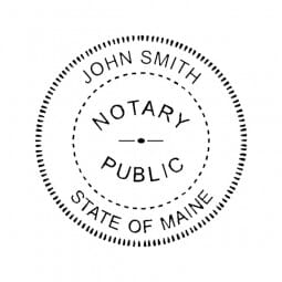 Maine Notary Pocket Seal - 1-5/8 Diam. Round