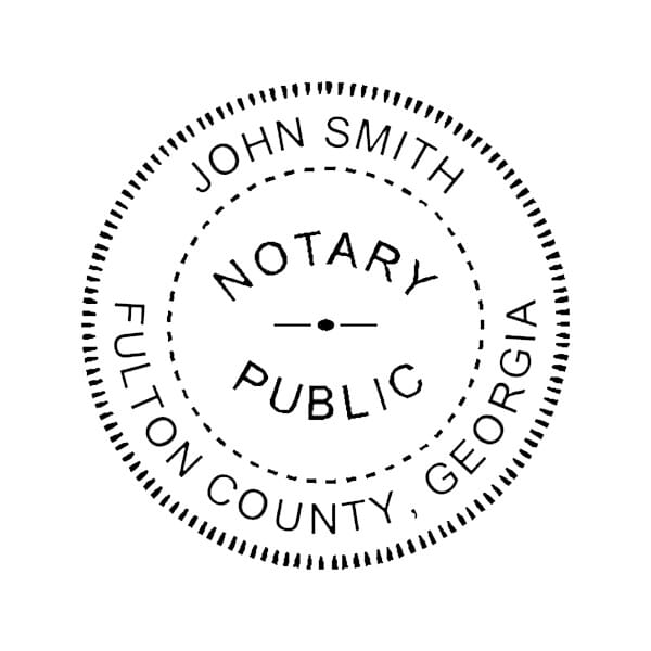 Georgia Notary Self-Inking Stamp - 1-5/8 Diam. Round