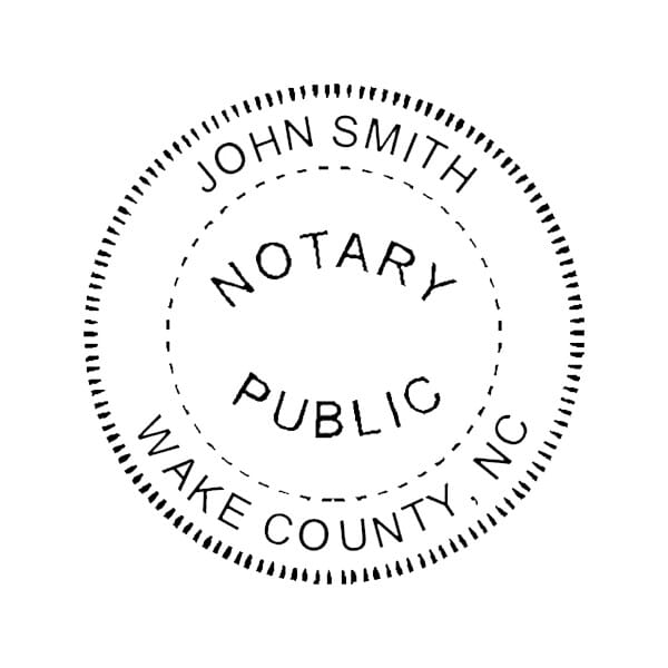 North Carolina Notary Desk Seal - 1-5/8 Diam. Round