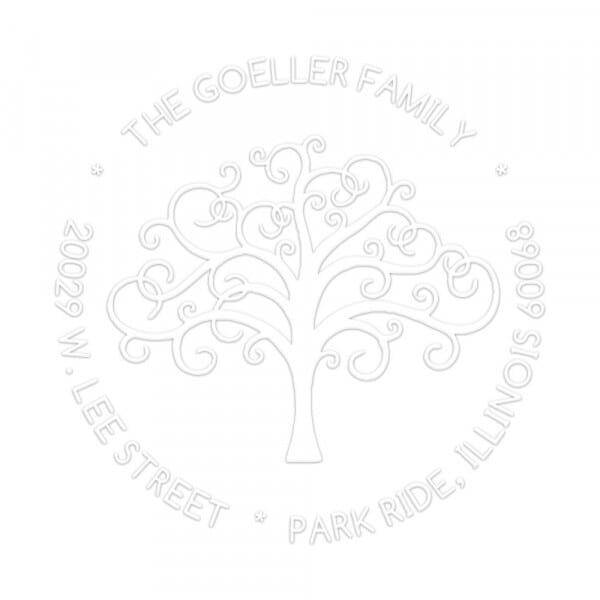 Family Tree Round Monogram Seal